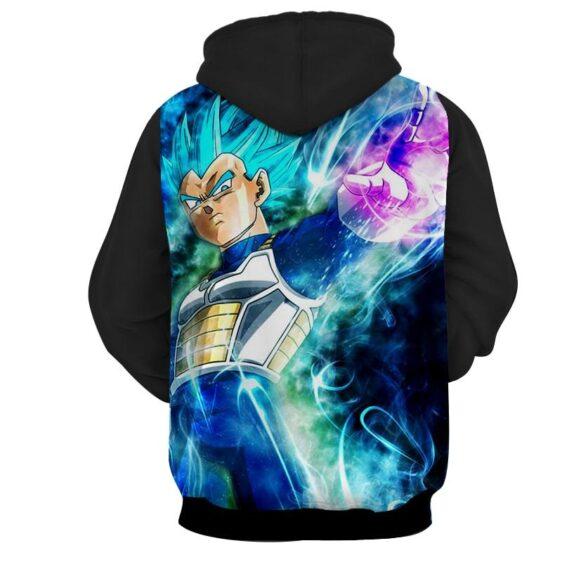 Dragon Ball Vegeta 2 Blue Super Saiyan Ultra Instinct Hoodie