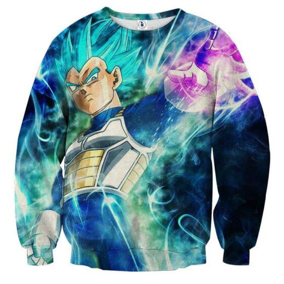 Dragon Ball Vegeta 2 Blue Super Saiyan Ultra Instinct Sweater