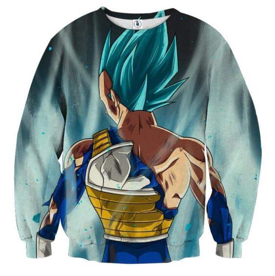 Dragon Ball Vegeta Blue Super Saiyan Epic Back View Sweatshirt