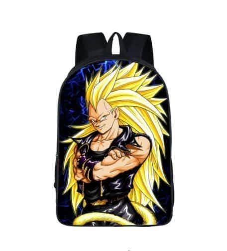 Dragon Ball Vegeta SSJ3 Rock Star Style School Backpack Bag