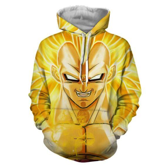 Dragon Ball Vegeta Super Saiyan 3 Cool Close Up Yellow Hoodie