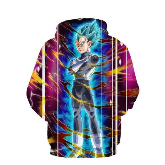Dragon Ball Vegeta Super Saiyan God Blue SSGSS Aura Power Dope Design Pocket Hoodie