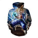 Dragon Ball Vegeto Fusion Kamehameha Powerful Skill Cool Design Hoodie