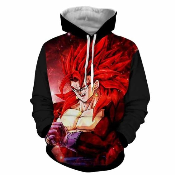 Dragon Ball Vegito 4 Red Super Saiyan Kaioken Cool Hoodie