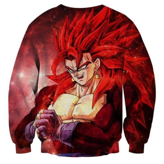 Dragon Ball Vegito 4 Red Super Saiyan Kaioken Cool Sweater