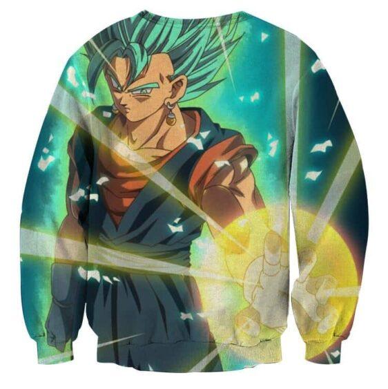 Dragon Ball Vegito Blue Super Saiyan Big Bang Flash Sweater