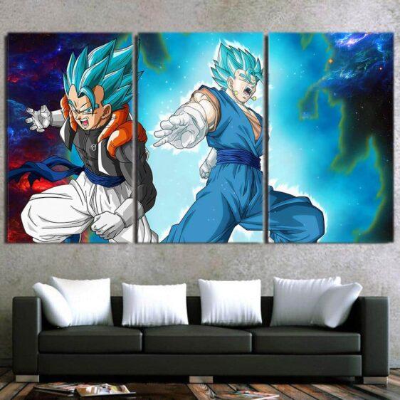 Dragon Ball Vegito Gogeta Dope Portrait 3pc Wall Art Print