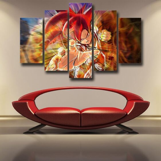 Dragon Ball Xenoverse Goku Super Saiyan Rose Burning Fire 5pc Canvas Prints