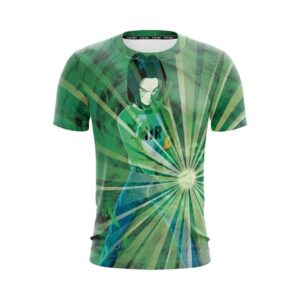 Dragon Ball Z Android 17 Releasing Power Blitz Green T-Shirt