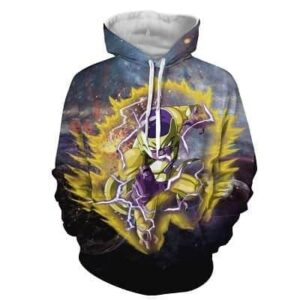 Dragon Ball Z Angry Frieza In His Golden Armor Form Hoodie