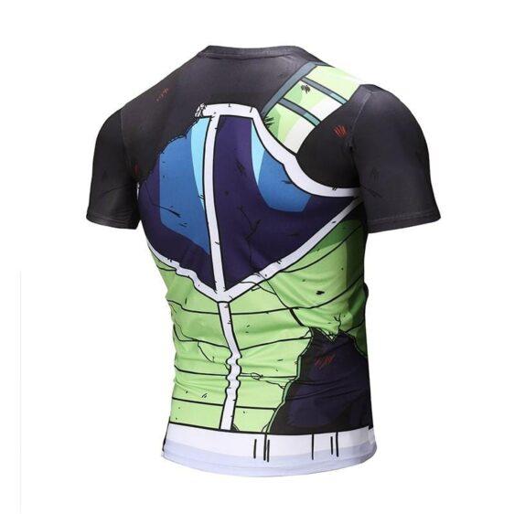 Dragon Ball Z Bardock Battle Torn Up Damaged Armor Suit Compression T-Shirt