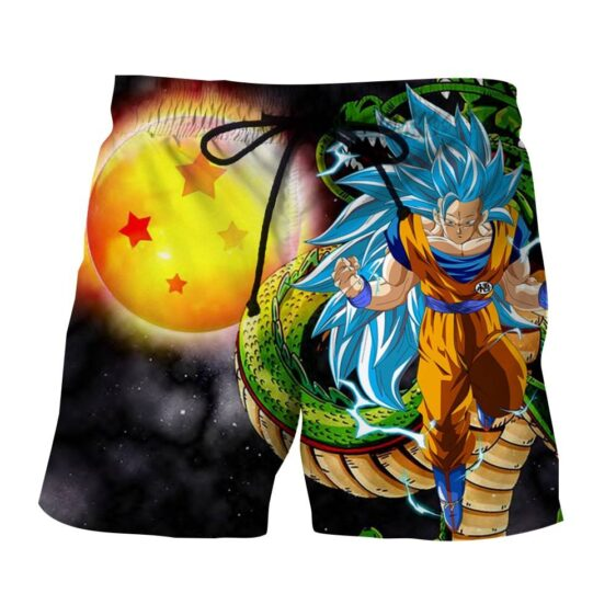 Dragon Ball Z Blue Goku 3 Super Saiyan Shenron Epic Boardshorts