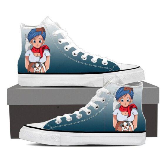 Dragon Ball Z Bulma Cute Adorable Pet Bunnies Sneaker Shoes