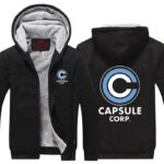 Dragon Ball Z Capsule Corporation Black Zip Up Hooded Jacket