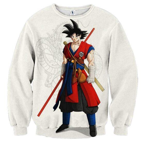 Dragon Ball Z Cool Adult Goku Fighter Attire Shenron Sweater