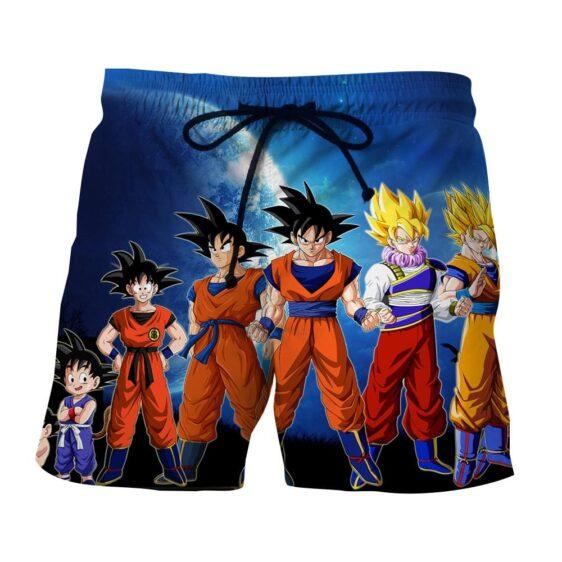 Dragon Ball Z Cool Goku Super Saiyan Transformation Boardshorts
