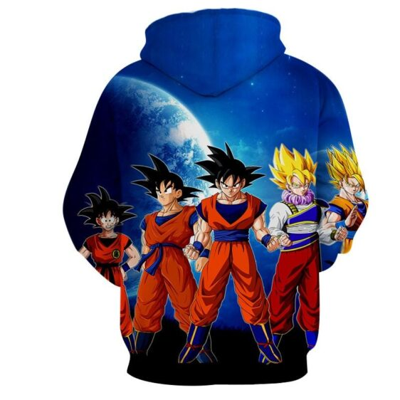 Dragon Ball Z Cool Goku Super Saiyan Transformation Hoodie