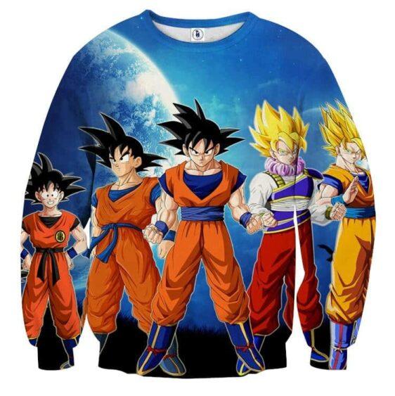 Dragon Ball Z Cool Goku Super Saiyan Transformation Sweater