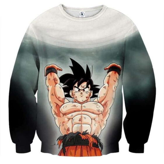 Dragon Ball Z Cool Son Goku Energy Ball Spirit Bomb Sweater