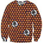Dragon Ball Z Crystal Ball Dots Pattern Sweatshirt - Saiyan Stuff