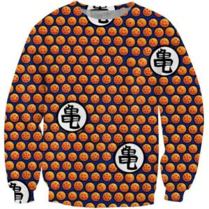 Dragon Ball Z Crystal Ball Dots Pattern Sweatshirt - Saiyan Stuff