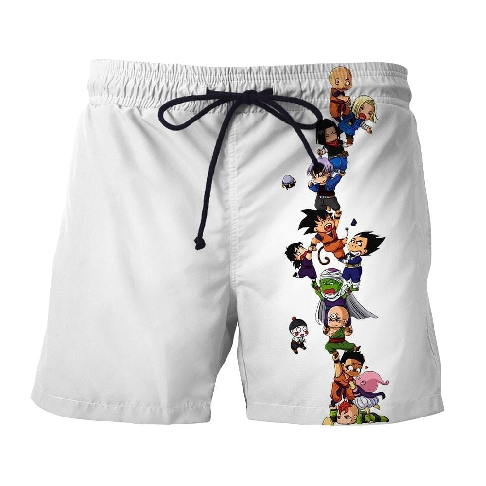 Dragon Ball Z Cute Adorable Chibi DBZ Characters Boardshorts