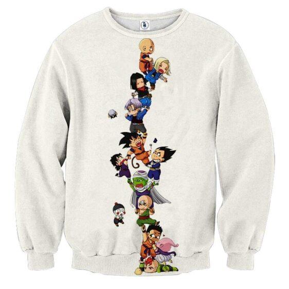 Dragon Ball Z Cute Adorable Chibi DBZ Characters Sweatshirt