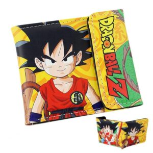 Dragon Ball Z Cute Kid Goku Yellow Wallet - Saiyan Stuff