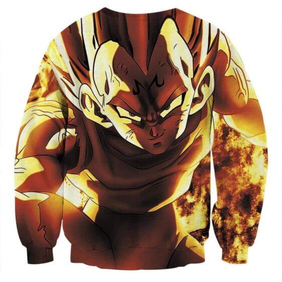 Dragon Ball Z Dope Majin Vegeta Grin Yellow Aura Sweatshirt