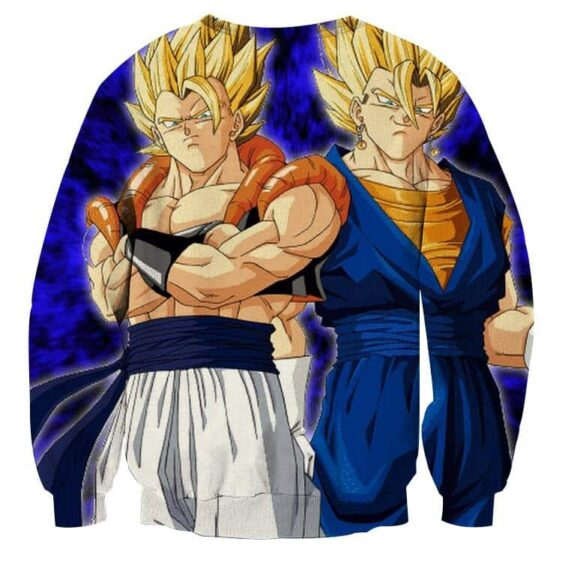Dragon Ball Z Gogeta Vegito Super Saiyan Dope Blue Sweatshirt