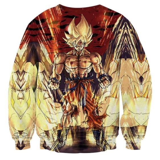 Dragon Ball Z Goku Super Saiyan Strong Serious Epic Sweatshirt