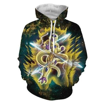 Dragon Ball Z Golden Form Frieza In His Yellow Aura Hoodie