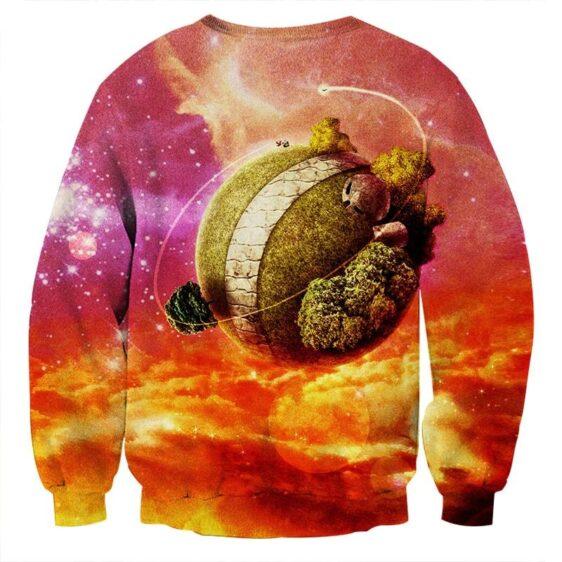 Dragon Ball Z Great King Kai Planet Cool Orange Sweatshirt
