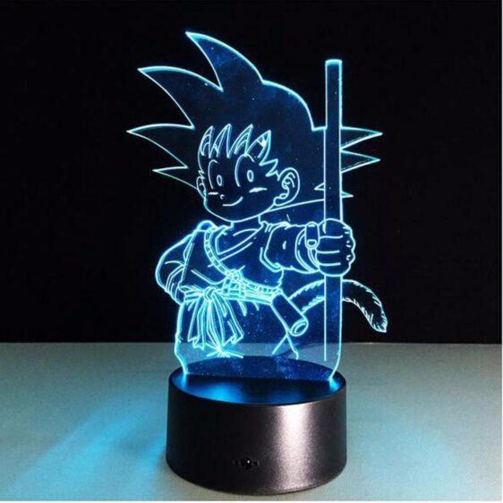 Dragon Ball Z Kid Goku Cute 7 Color Changing Acrylic Panel Lamp - Saiyan Stuff - 9