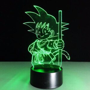 Dragon Ball Z Kid Goku Cute 7 Color Changing Acrylic Panel Lamp - Saiyan Stuff - 1