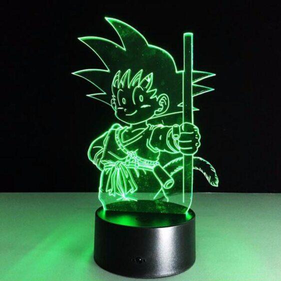 Dragon Ball Z Kid Goku Cute 7 Color Changing Acrylic Panel Lamp - Saiyan Stuff - 1