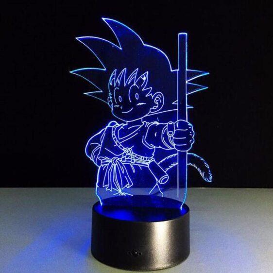 Dragon Ball Z Kid Goku Cute 7 Color Changing Acrylic Panel Lamp - Saiyan Stuff - 2