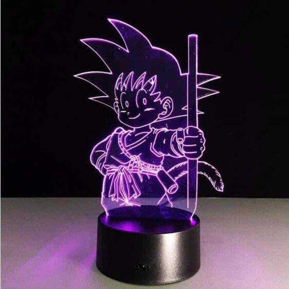 Dragon Ball Z Kid Goku Cute 7 Color Changing Acrylic Panel Lamp - Saiyan Stuff - 4