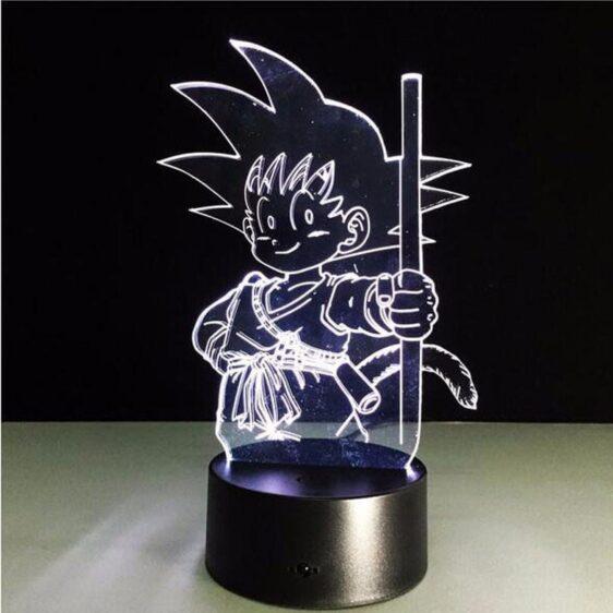 Dragon Ball Z Kid Goku Cute 7 Color Changing Acrylic Panel Lamp - Saiyan Stuff - 5