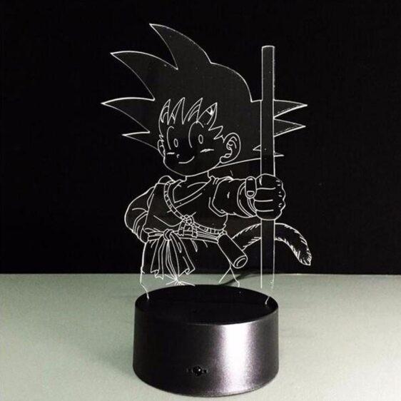 Dragon Ball Z Kid Goku Cute 7 Color Changing Acrylic Panel Lamp - Saiyan Stuff - 6