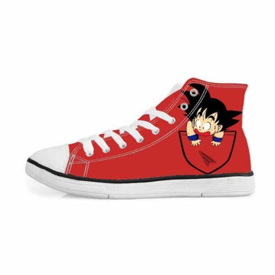 Dragon Ball Z Kid Goku Pocket Cute Red Sneakers Converse Shoes