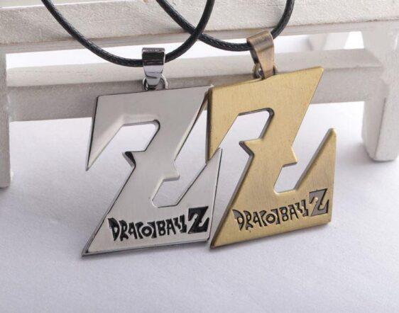 Dragon Ball Z Logo Necklace Pendant Gold Silver - Saiyan Stuff