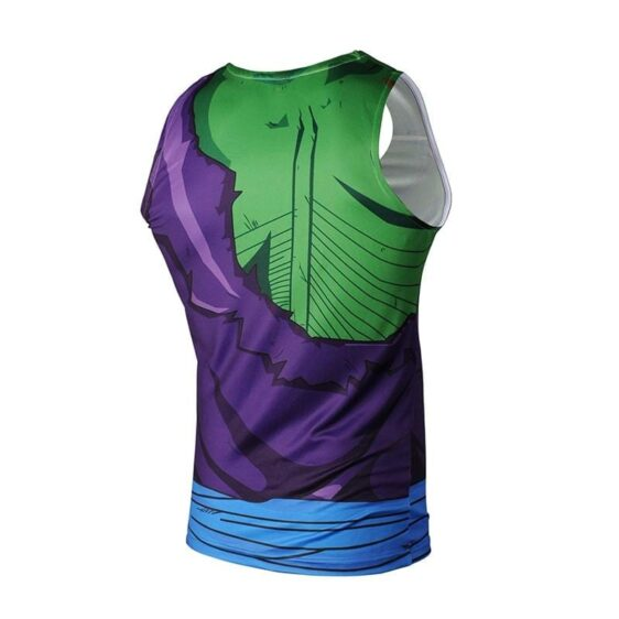 Dragon Ball Z Piccolo Suit Torn Up Bruised Compression Tank Top