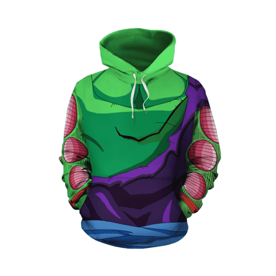 Dragon Ball Z Piccolo Torn Up Damaged Green Cosplay Hoodie