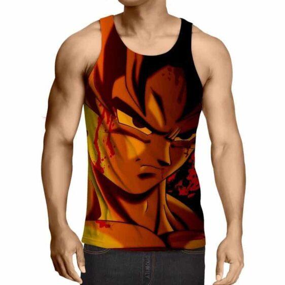Dragon Ball Z Pissed Serious Son Goku Dope Orange Tank Top