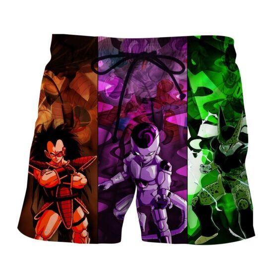 Dragon Ball Z Raditz Frieza Cell Awesome Villain Boardshorts