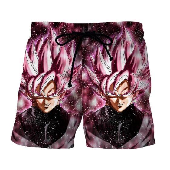 Dragon Ball Z Super Saiyan Goku Black Rose Pink Boardshort