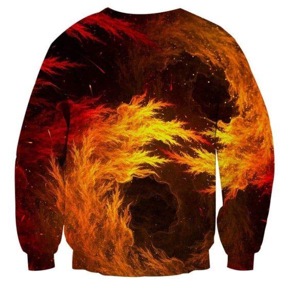 Dragon Ball Z Super Saiyan Orange Aura Flame Dope Sweatshirt