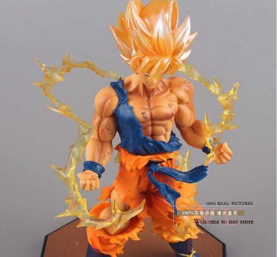 Dragon Ball Z Super Saiyan Son Goku Battle Version Action Figure 6.8' - Saiyan Stuff
