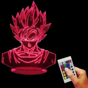 Dragon Ball Z Super Saiyan Son Goku Color Changing Table Acrylic Panel Lamp - Saiyan Stuff - 2